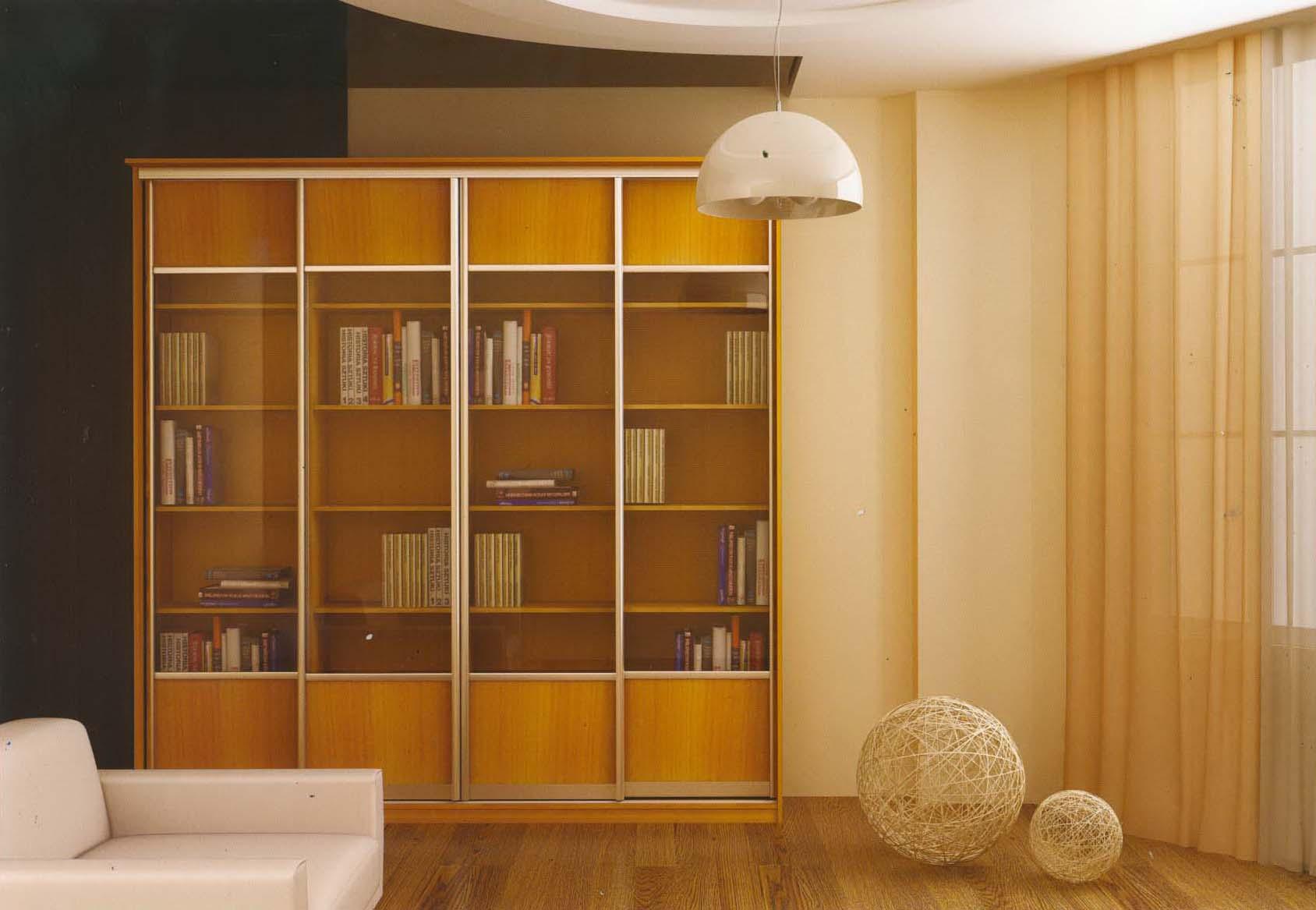 Галерея библиотек и стеллажей.